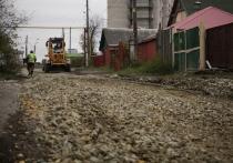 В Новосибирске завершают самый крупный щебеночный дорожный ремонт года