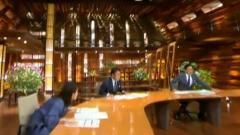 Землетрясение в Японии попало на камеры в телестудии
