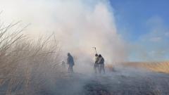 В Казахстане с воздуха тушат ландшафтные пожары: кадры с вертолета