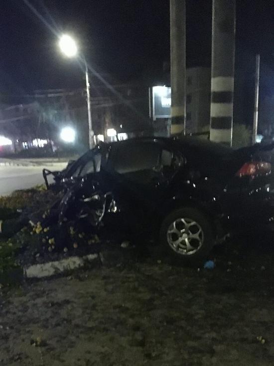 Иномарку намотало на столб: в Иванове произошла авария со смертельным исходом