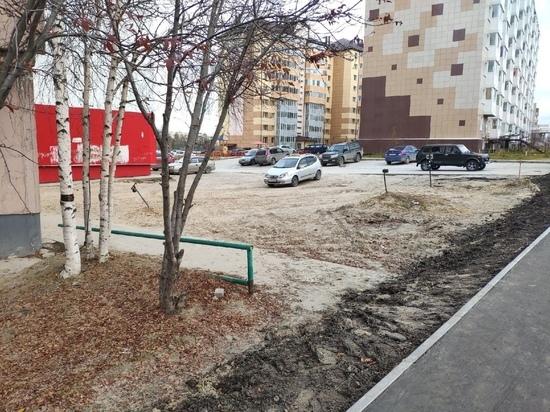 Восстановить подходы к тротуарам на Высоцкого просят жители Ноябрьска