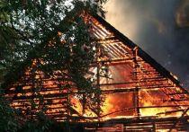 В Лужском районе Ленобласти сгорела баня