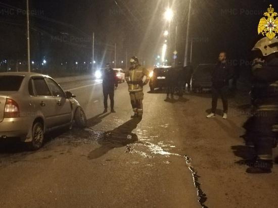В Калуге столкнулись две Lada, есть пострадавший