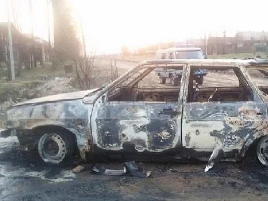 В Фурманове легковушка сгорела дотла