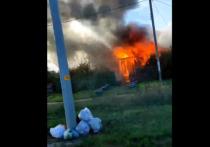 В селе Высокое под Рязанью загорелся частный дом