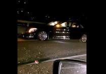 В Сочи автомобиль Mercedes-Maybach, пассажиркой которого была Ксения Собчак, попал в ДТП