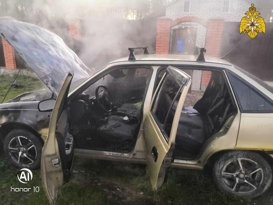 В Калужской области за утро сгорели два автомобиля