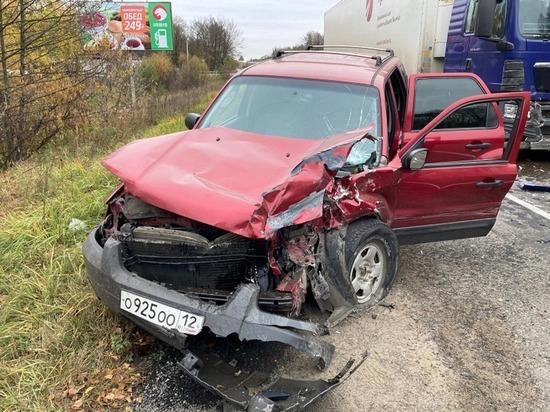 Три автомашины столкнулись на Казанском тракте в Марий Эл