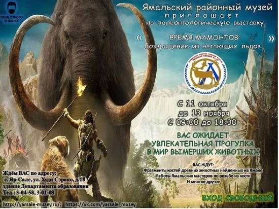 Выставка костей вымерших животных открылась в Ямальском районе