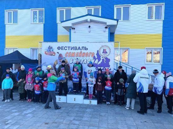 Около 100 семей посостязались в фестивале биатлона в Лабытнанги