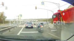 Момент жесткого ДТП с грузовиком в Пучково в Калуге