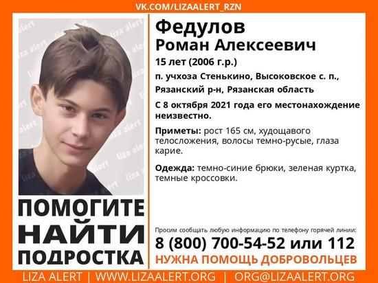 СК возбудил дело по факту исчезновения 15-летнего подростка под Рязанью