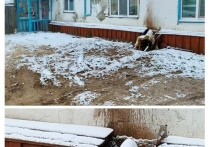 Зима будет «теплой»: разбитый короб на сетях дома беспокоит жителей Тарко-Сале