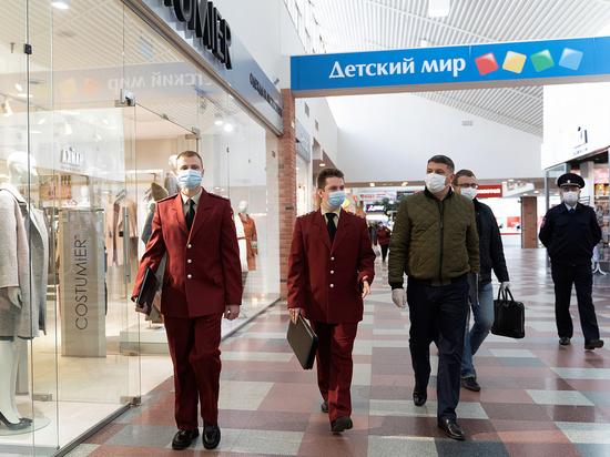 Торговые центры Тверской области проверяют на соблюдение антиковидных мер