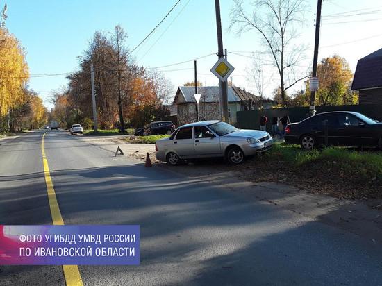 В Иванове водитель иномарки столкнулся с учебным автомобилем