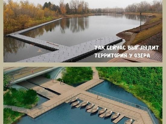 Строительство открытого бассейна и плавучего моста началось на острове Татышев в Красноярске