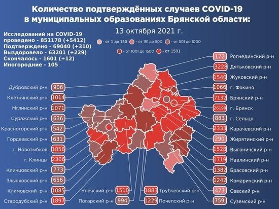 Брянская область обновила антирекорд по коронавирусу