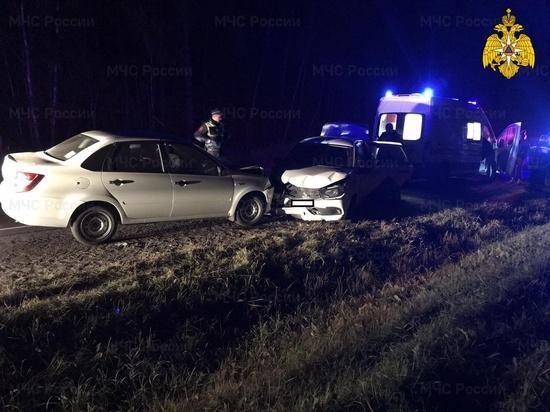 На подъезде к Калуге столкнулись две Lada, пострадали два человека
