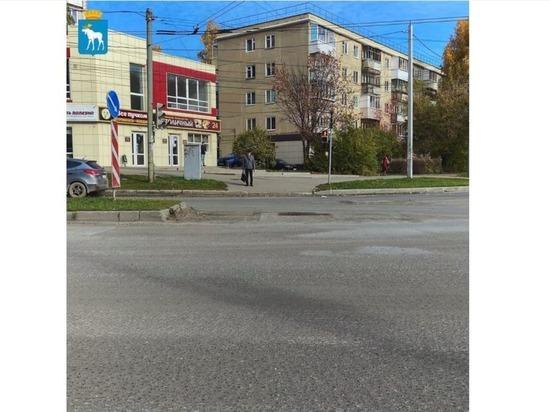 На улице Герцена в Йошкар-Оле ограничено движение