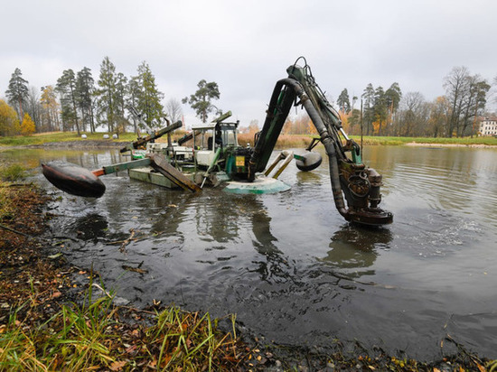В музее-заповеднике «Гатчина» приступили к расчистке Белого озера