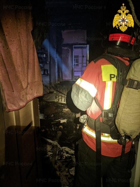В центре Калуги сгорела квартира