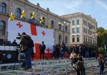 Тысячи сторонников Саакашвили устроили митинг в Тбилиси