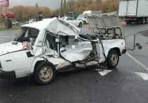 В Курской области на трассе М-2 в ДТП с грузовиком DAF погибли два пассажира легковушки ВАЗ