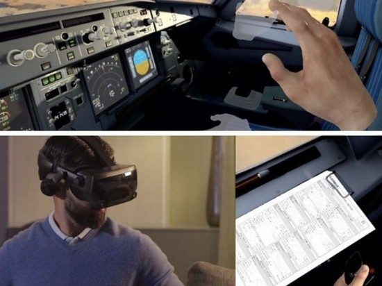 Крупнейшая авиастроительная компания будет обучать пилотов через очки удаленно