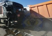 Два большегруза столкнулись на трассе в Хилокском районе