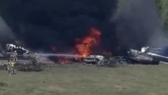Опубликовано видео с места крушения самолета в Техасе