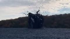 На Кубани сняли извержение грязевого вулкана: видео