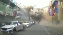 Момент взрыва газа в ресторане китайского Шэньяна запечатлел видеорегистратор