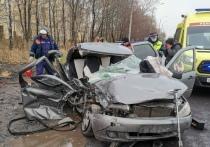 Появились фотографии с места смертельного ДТП на трассе М-5 в Рязани