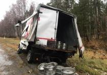 На дороге в Марий Эл водитель «Газели» пострадал от грузовика