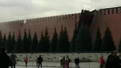 """Появилось видео """"разрушения"""" кремлевской стены ураганом"""