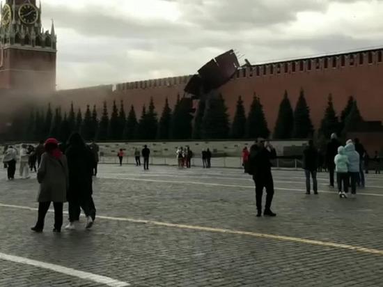 В Москве временно закрыли доступ посетителей на Красную площадь из-за сильного ветра