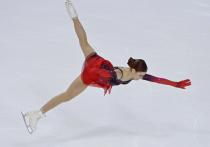 Александра Трусова занимает первое место после короткой программы на первом этапе Гран-при Skate America (77,69 балла)