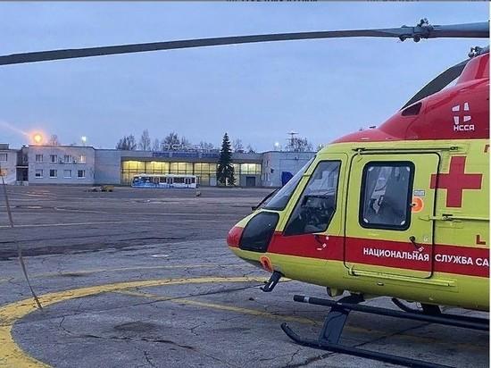 Новый вертолет Национальной службы санитарной авиации прибыл в Псковскую область