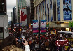 Митинг протеста перед открытием Олимпиады