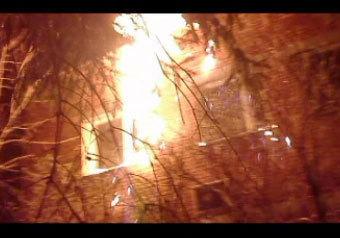 Экстремисты подожгли милицию в память о Евсюкове. ВИДЕО