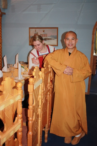 Старший монах по боевым искусствам Шаолиньского монастыря изучал в Подмосковье иконопись