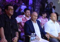 Путину подарили пояс икатану