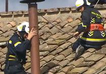 В Ватикане установили дымоход. ВИДЕО