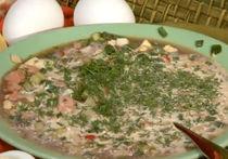 Рецепт окрошки из щавеля и на айране с минералкой от Анны Семенович