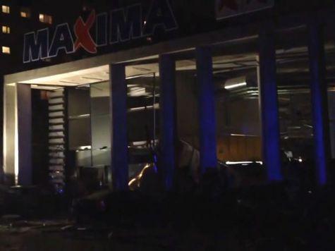 Рижский супермаркет обрушился дважды