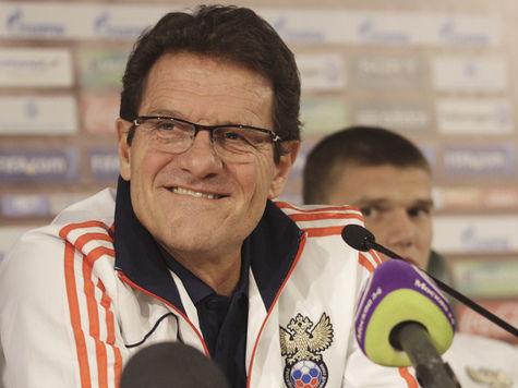 Капелло назвал расширенный список игроков сборной России