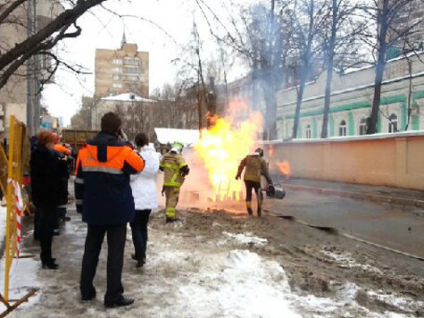 В районе Арбата произошла авария на газопроводе