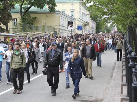 «Марш миллионов» пройдет по маршруту, проложенному Акуниным и Улицкой