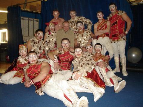 Артистические образы ярославского тренера в цирке «Дю Солей»