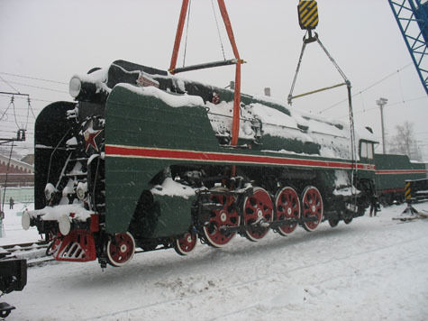 В разгар небывалого снегопада из Москвы улетел паровоз
